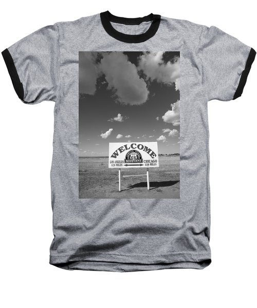 Route 66 - Midpoint Sign Baseball T-Shirt