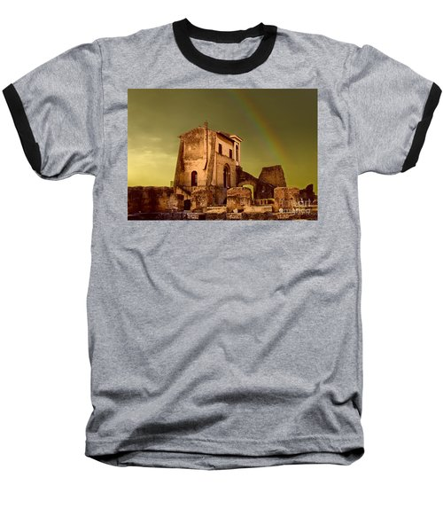 Ruin At Palatine Hill Baseball T-Shirt