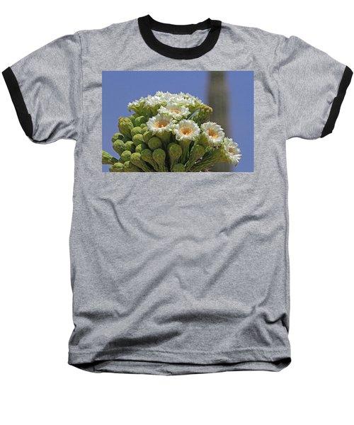 Saguaro Flower And Buds  Baseball T-Shirt