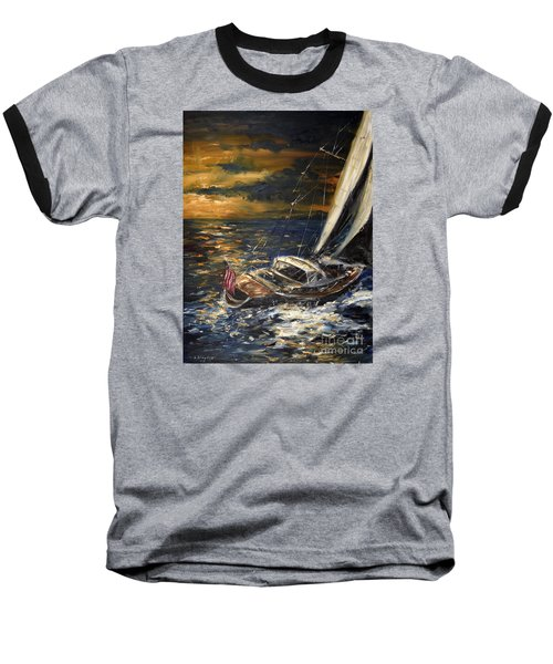 Sailing Baseball T-Shirt by Arturas Slapsys