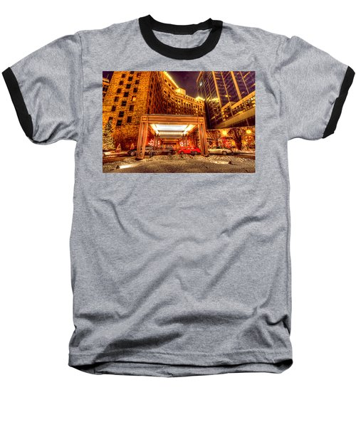 Saint Paul Hotel Baseball T-Shirt by Amanda Stadther