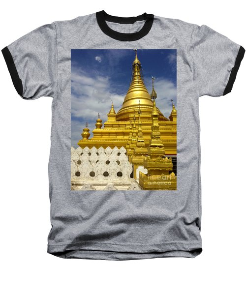 Baseball T-Shirt featuring the photograph Sandamuni Pagoda Mandalay Burma by Ralph A  Ledergerber-Photography