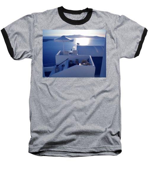 Baseball T-Shirt featuring the photograph Santorini Island Greece by Colette V Hera  Guggenheim