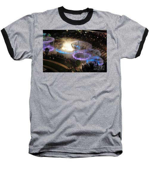 D101l-216 Scioto Mile Riverfront Park Fountain Photo Baseball T-Shirt