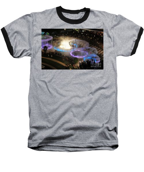 D101l-216 Scioto Mile Riverfront Park Fountain Photo Baseball T-Shirt