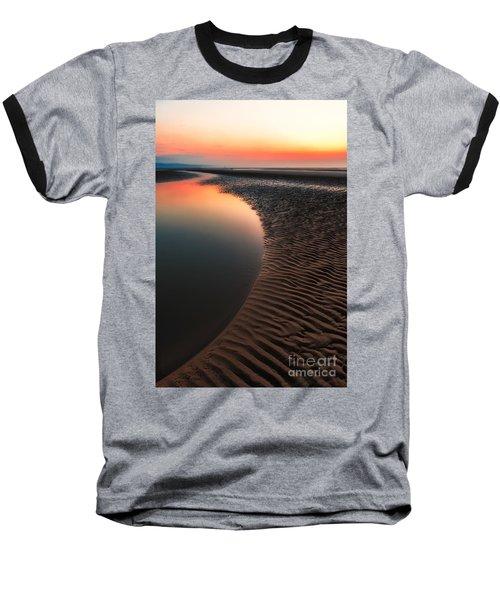 Seascape Sunset Baseball T-Shirt