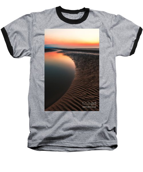 Seascape Sunset Baseball T-Shirt