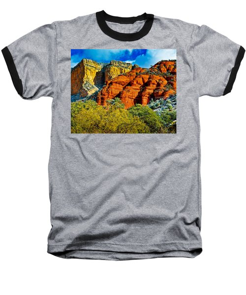 Baseball T-Shirt featuring the photograph Sedona Arizona - Wilderness Area by Bob and Nadine Johnston