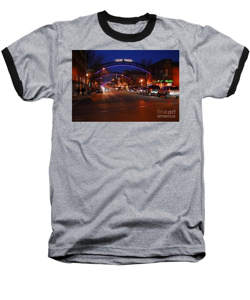 D8l-353 Short North Gallery Hop Photo Baseball T-Shirt