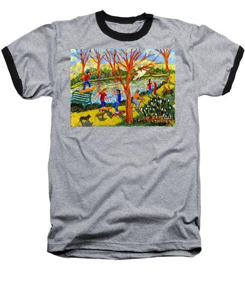 Skateboarders Baseball T-Shirt