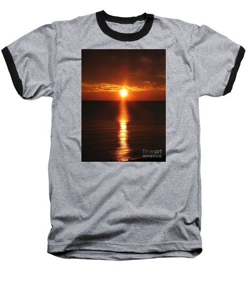 Baseball T-Shirt featuring the photograph Sky On Fire by Christiane Schulze Art And Photography