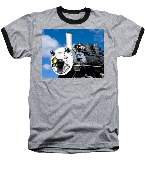 Smiling Locomotive Baseball T-Shirt