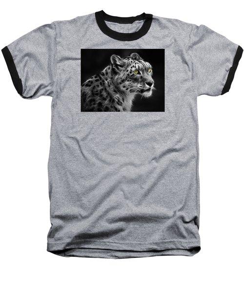 Snow Leopard Baseball T-Shirt by Nina Bradica