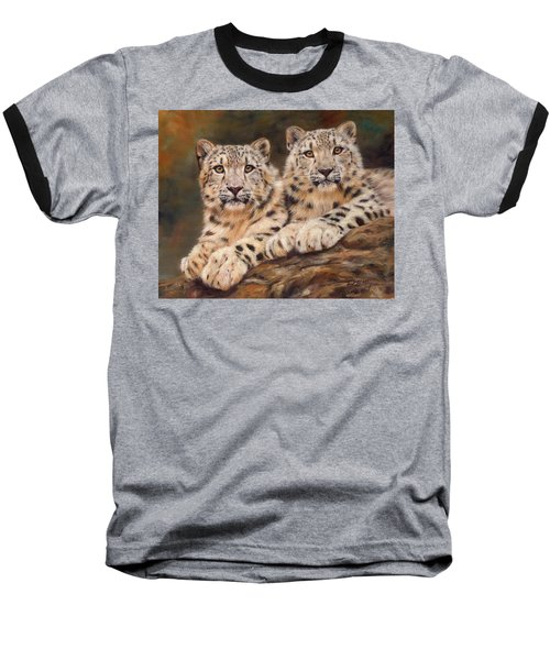 Snow Leopards Baseball T-Shirt