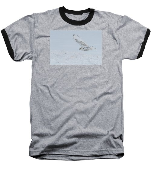 Baseball T-Shirt featuring the photograph Snowy Owl #2/3 by Patti Deters