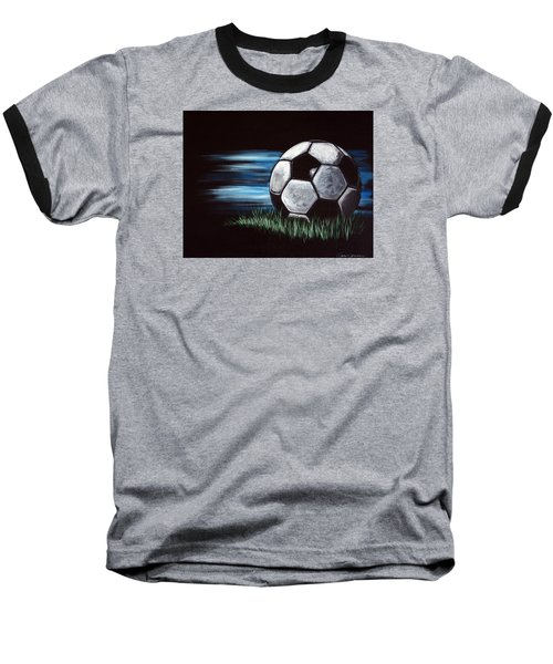 Soccer Ball Baseball T-Shirt by Dani Abbott