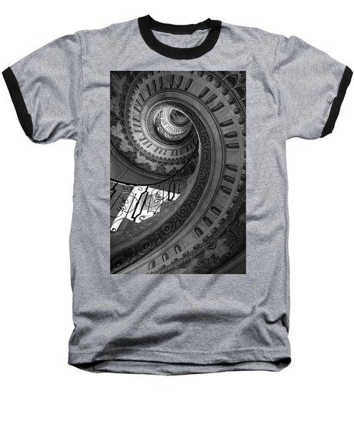 Spiral Staircase Baseball T-Shirt by Chevy Fleet
