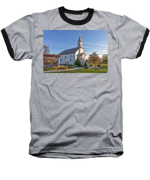 Baseball T-Shirt featuring the photograph St. Mary's Chapel by Jim Thompson