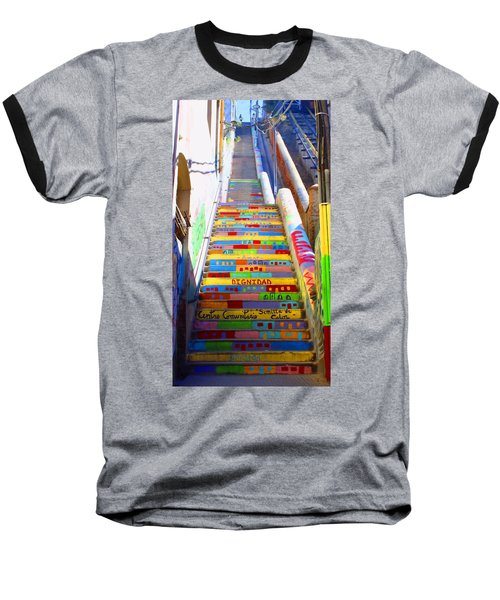 Stairway To Heaven Valparaiso  Chile Baseball T-Shirt