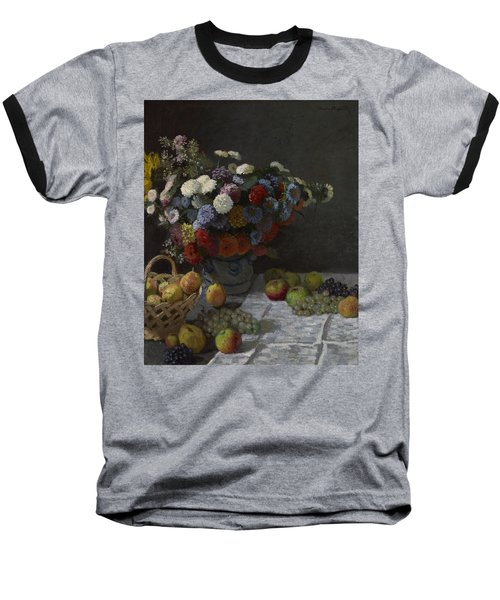 Still Life With Flowers And Fruit Baseball T-Shirt