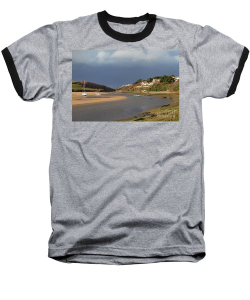 Baseball T-Shirt featuring the photograph Storm Approaches The Gannel Estuary Newquay Cornwall by Nicholas Burningham