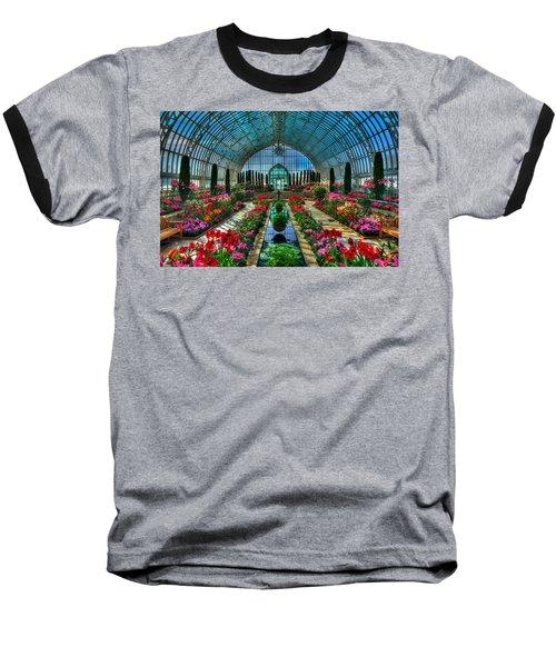Sunken Garden Como Conservatory Baseball T-Shirt by Amanda Stadther