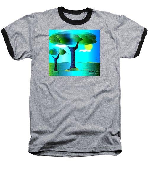 Baseball T-Shirt featuring the digital art Sunny Day   by Iris Gelbart