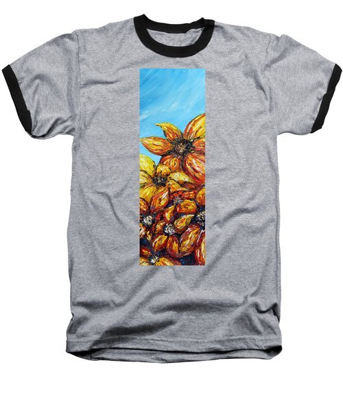 Baseball T-Shirt featuring the painting Sunrise by Meaghan Troup