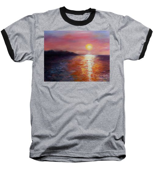 Sunset In Ixtapa Baseball T-Shirt
