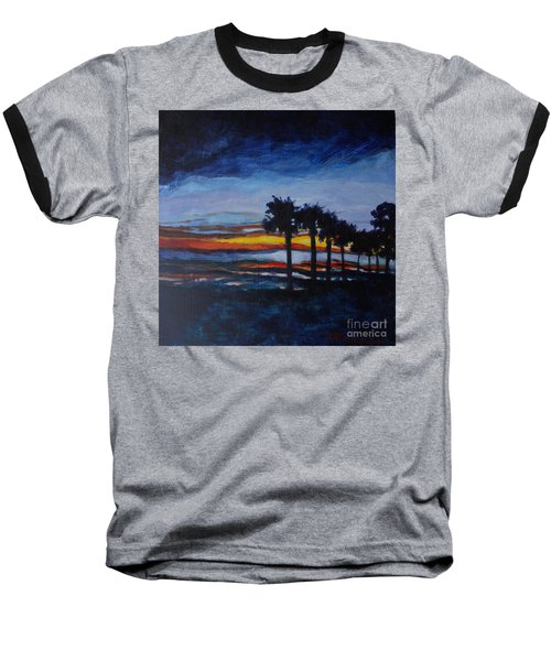 Sunset In St. Andrews Baseball T-Shirt by Jan Bennicoff