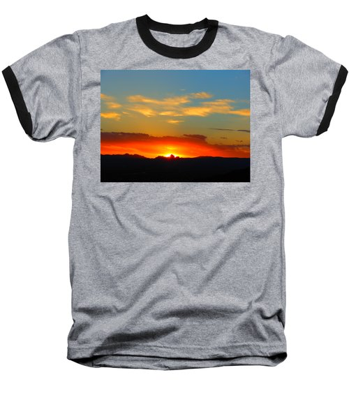 Sunset In The Desert Baseball T-Shirt