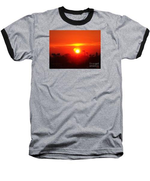 Baseball T-Shirt featuring the photograph Sunset by Jasna Dragun