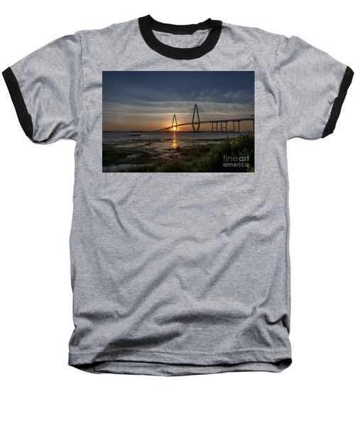 Sunset Over The Bridge Baseball T-Shirt