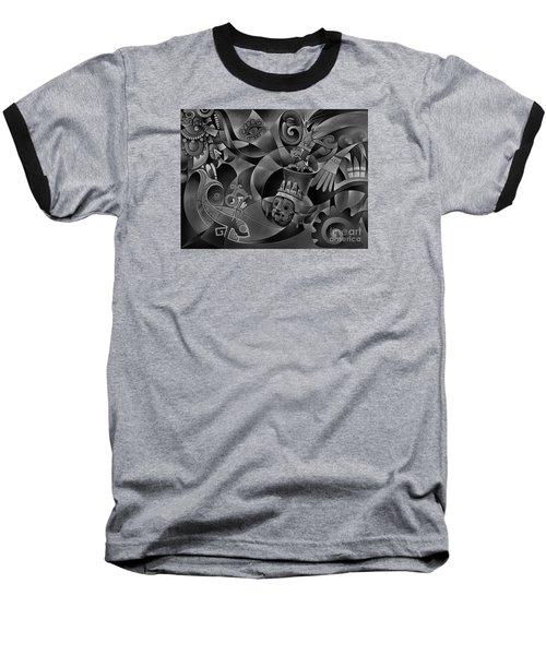 Tapestry Of Gods - Tlaloc Baseball T-Shirt