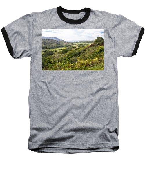 Baseball T-Shirt featuring the photograph Taro Fields by Suzanne Luft