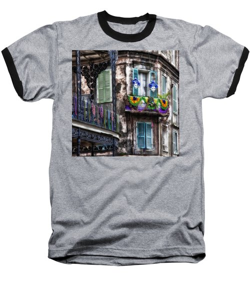 The French Quarter During Mardi Gras Baseball T-Shirt