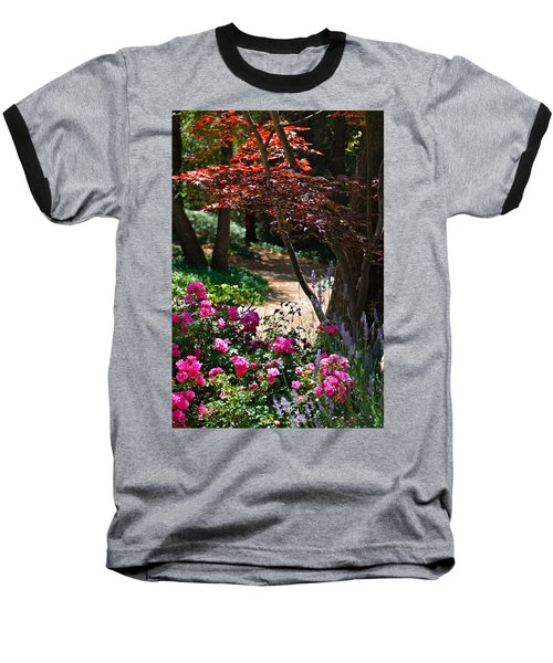 Baseball T-Shirt featuring the photograph The Garden Path by Michele Myers