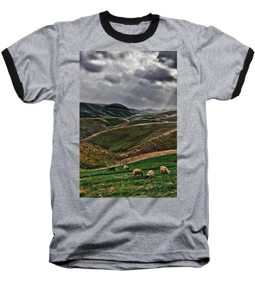The Lord Is My Shepherd Judean Hills Israel Baseball T-Shirt