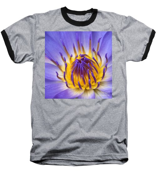 The Lotus Flower Baseball T-Shirt by Sharon Mau