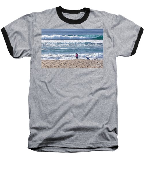 Baseball T-Shirt featuring the photograph Thundering Waves by Susan Wiedmann