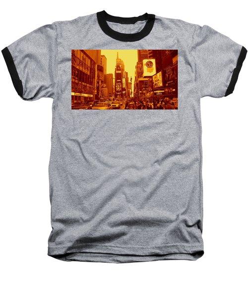 42nd Street And Times Square Manhattan Baseball T-Shirt