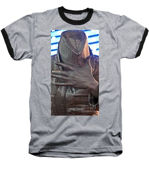 Baseball T-Shirt featuring the photograph Tin Man In Times Square by Lilliana Mendez