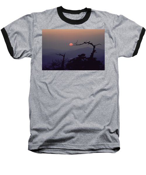 Tree And Sun From Mt Scott Baseball T-Shirt