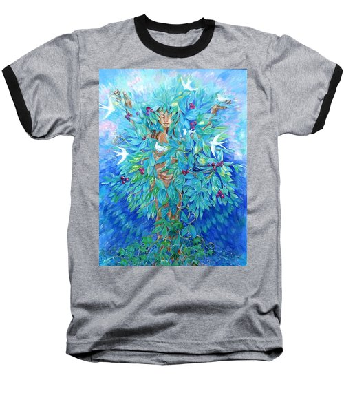 Baseball T-Shirt featuring the painting Tree Of Life  by Trudi Doyle