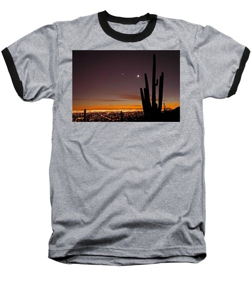 Tucson At Dusk Baseball T-Shirt