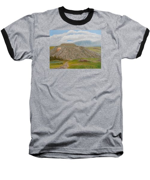 Tucumcari Mountain Reflections On Route 66 Baseball T-Shirt