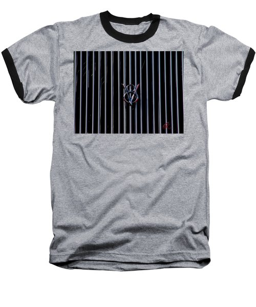 Baseball T-Shirt featuring the photograph V8 Grill by Chris Thomas