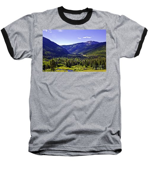 Vail Valley View Baseball T-Shirt by Madeline Ellis