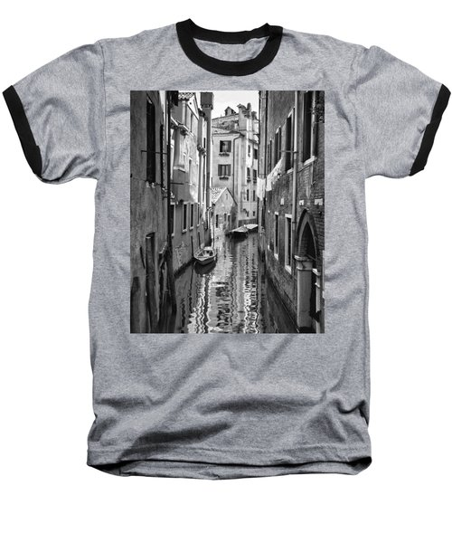 Venetian Alleyway Baseball T-Shirt by William Beuther
