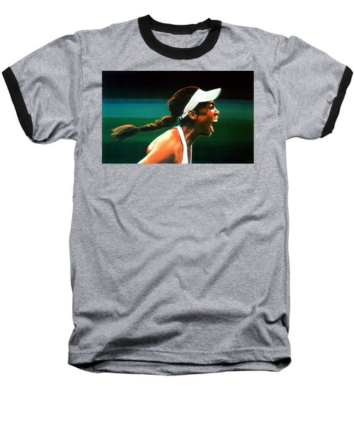 Venus Williams Baseball T-Shirt by Paul Meijering